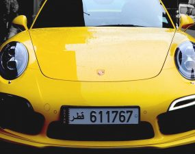 [iPhone] porche-street-car-yellow