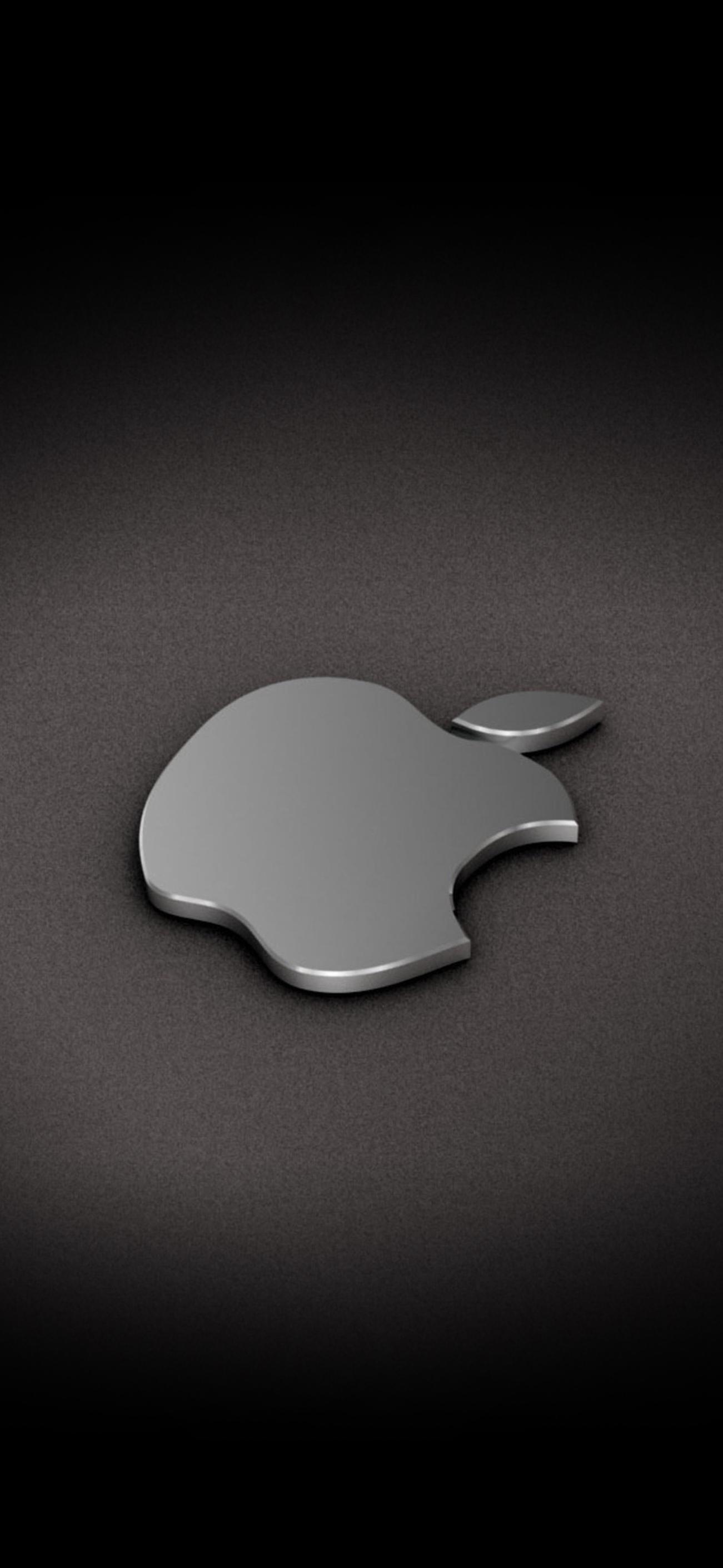 Iphone ノッチが目立たない壁紙 Apple ロゴ Free Apple Papers
